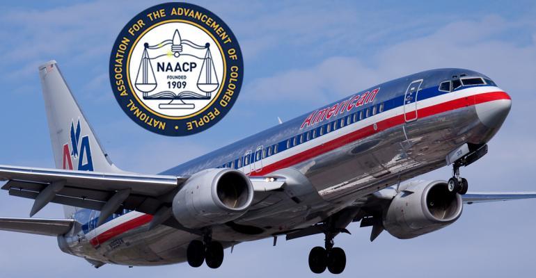 NAACP logo and Airplane