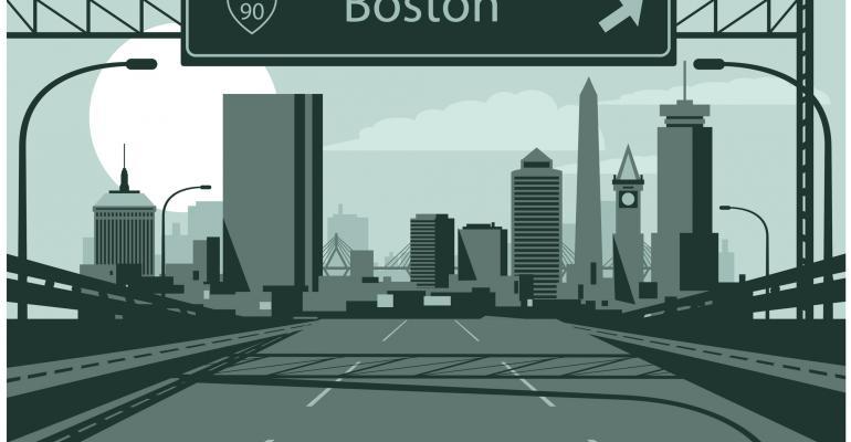 Boston Highway Sign