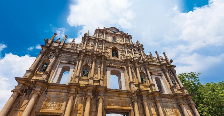 Ruins St Paul Church in Macau, China