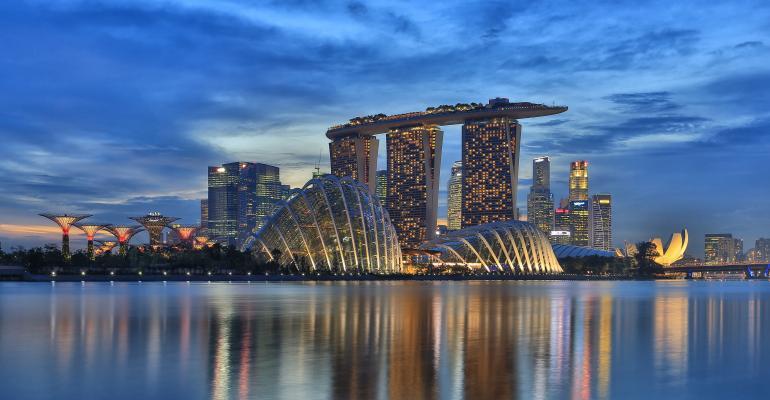 Singapore's Marina Bay skyline