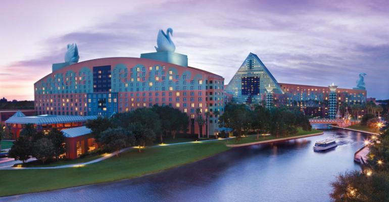 Exterior of the Walt Disney World Swan and Dolphin Resort