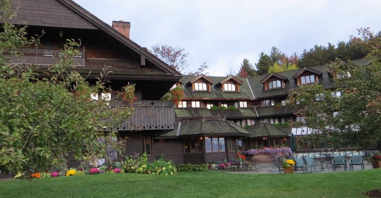 Exterior of the Trapp Family Lodge