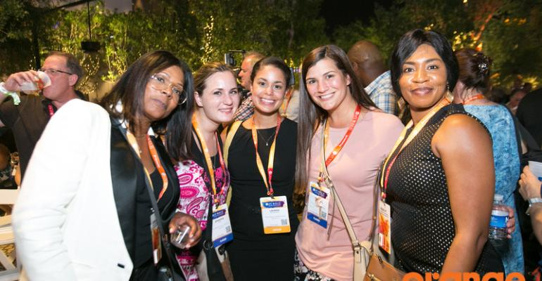 Participants enjoyed the ambience at the opening evening reception, held at The Park Las Vegas at New York New York.