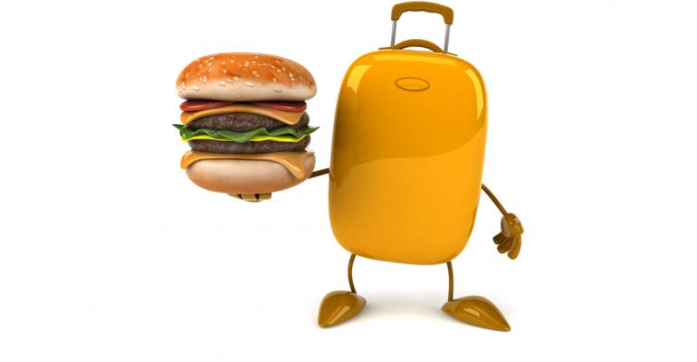On-demand airport food services
