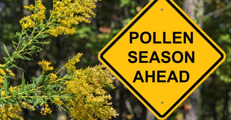 Sign: Pollen season ahead