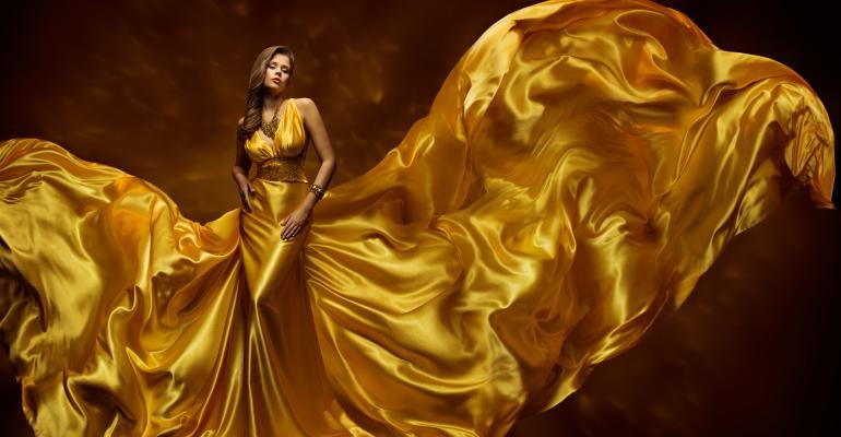 Silk ballgown