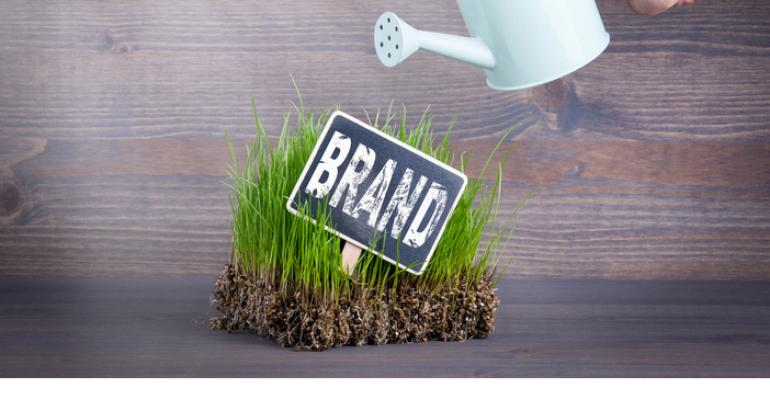 brand in grass