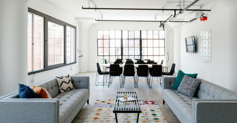 A meeting room rental from Breather