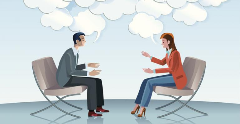 comunication between two people