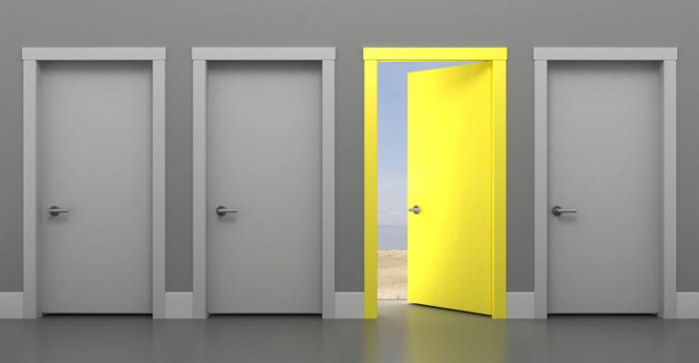 Door opening to bright new opportunity