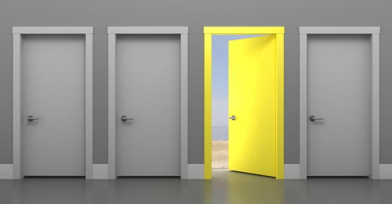 Door opening to bright new opportunity