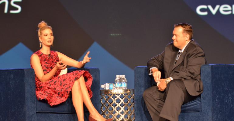 Cvent Senior Vice President of Marketing Eric Eden interviewed The Trump Organization39s Executive Vice President of Development amp Acquisitions Ivanka Trump to get her perspective on achieving both personal and professional success at Cvent Connect 2015