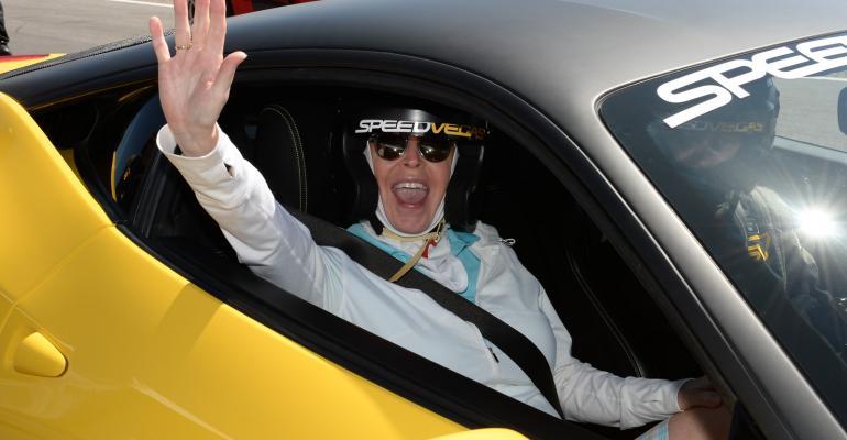 LVCI participant in racecar at SPEEDVEGAS