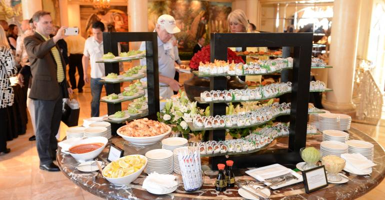 Food at the opening reception 17th Annual Las Vegas Invitational