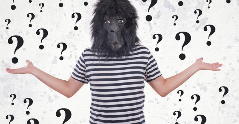 man in a gorilla mask