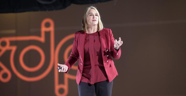 Author, speaker, and customer service maven Kelly McDonald at ASAE's XDP