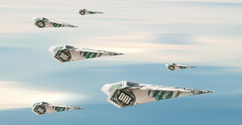 paper airplane dollars