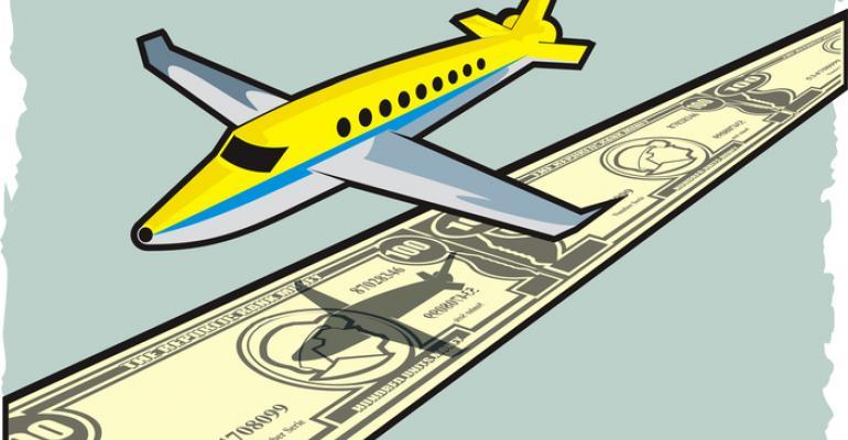 plane over money