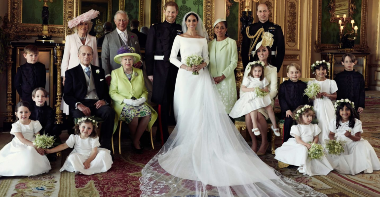 Prince Harry and Meghan Markle's official wedding photo