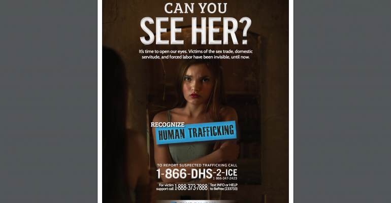 Anti-sex trafficking poster