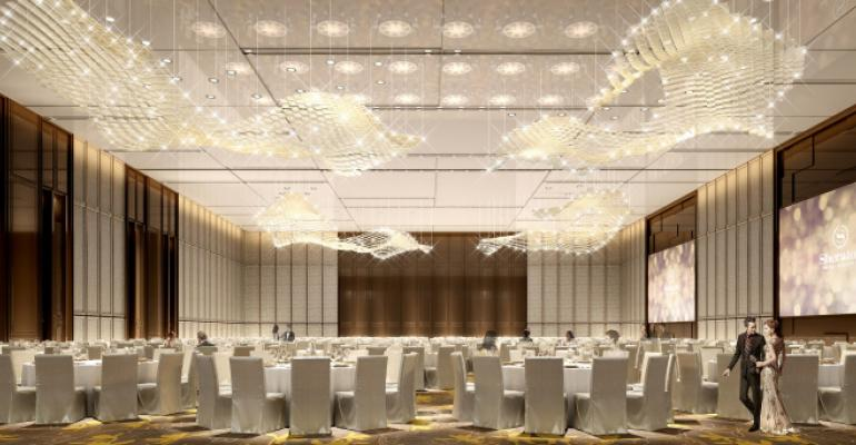 The ballroom at the new Sheraton Los Angeles San Gabriel Hotel