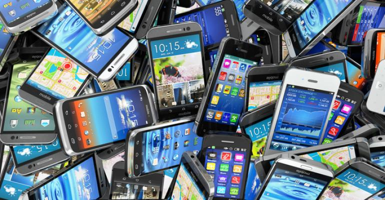 pile of cellphones