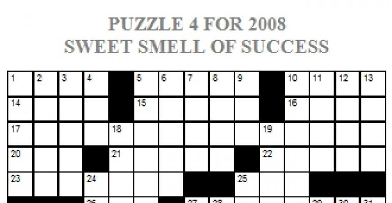 Crossword Puzzle July/August 2008