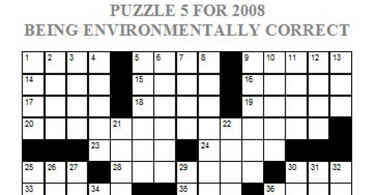 Puzzle 5, 2008 - Being Environmentally Correct