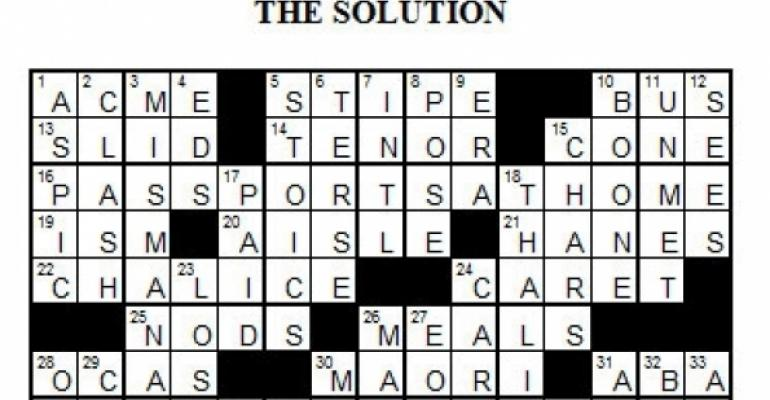 Puzzle 6, 2008 - The Joys of Air Travel Solution