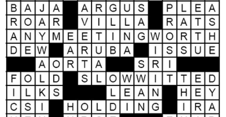 Crossword - Jan 2009 Solution
