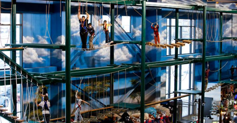 Great Wolf Lodge39s ropes course in Wisconsin Dells