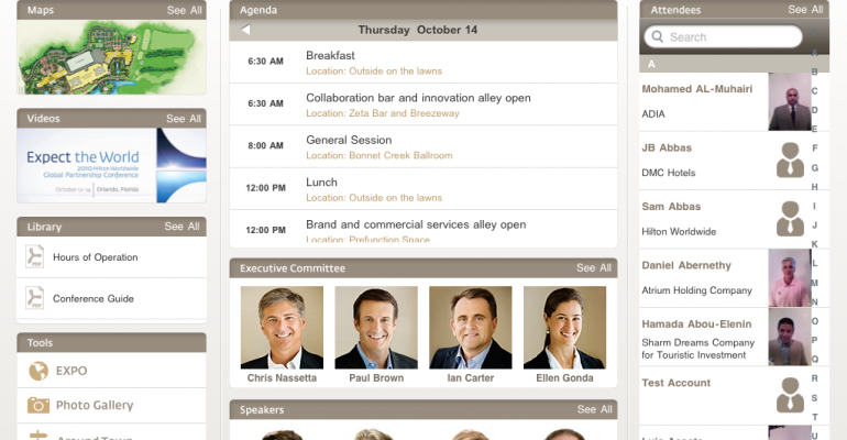 iPads Power Hilton Meeting