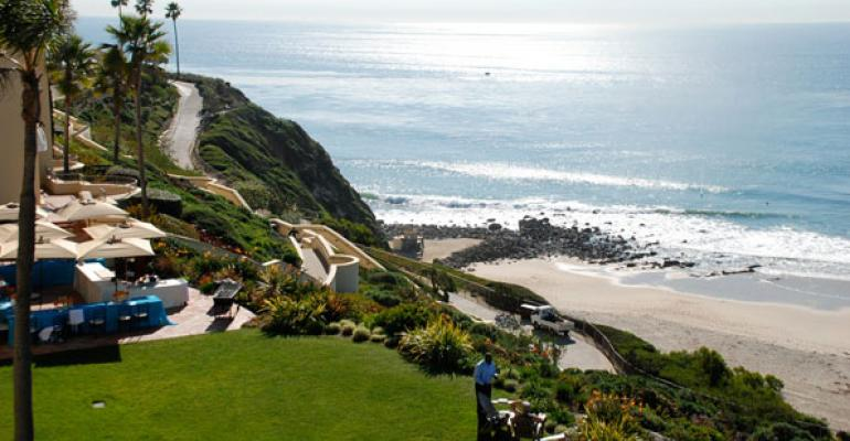 The view from the Club Room at RitzCarlton Laguna Niguel