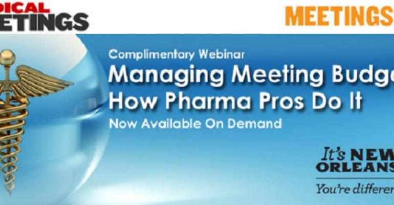 Managing Meeting Budgets: How Pharma Pros Do It