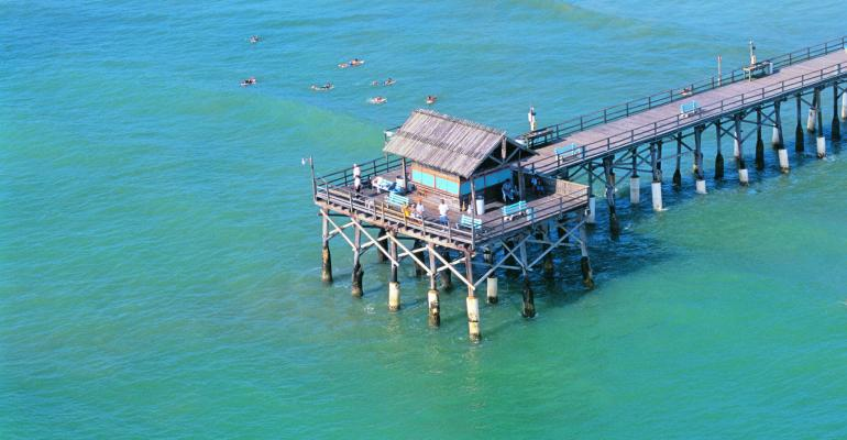 The pier at Cocoa Beach on Florida39s Space Coast