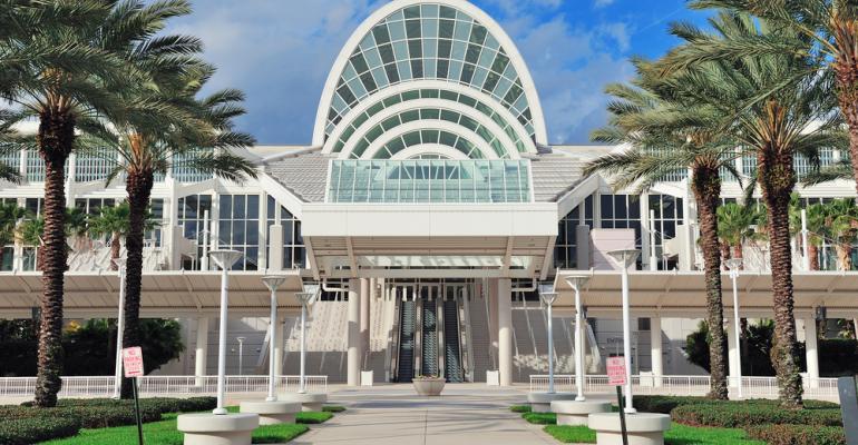 The Orange County Convention Center in Orlando