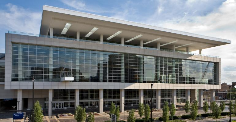 The new arena will be connected to McCormick Place West above via sky bridge