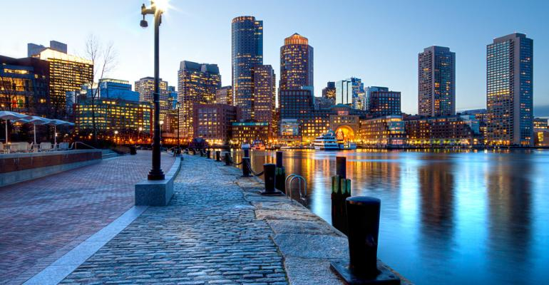 A beautiful view of the Boston skyline