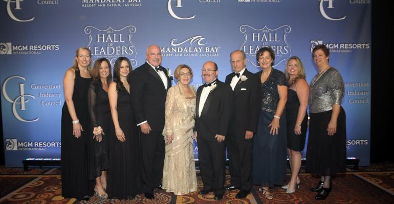 The 2013 class of Convention Industry Council39s Hall of Leaders and Pacesetters along with the evening39s presenters
