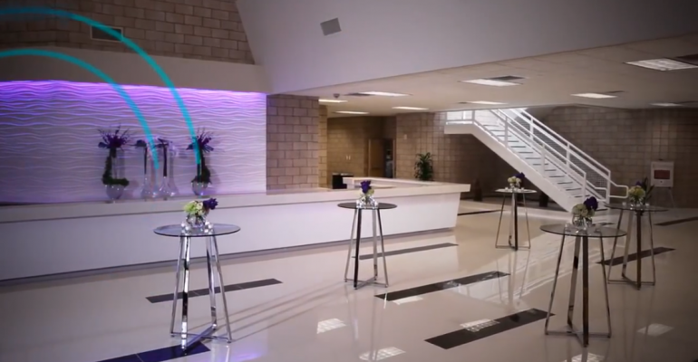 Reception area at the Oquendo Center in Las Vegas