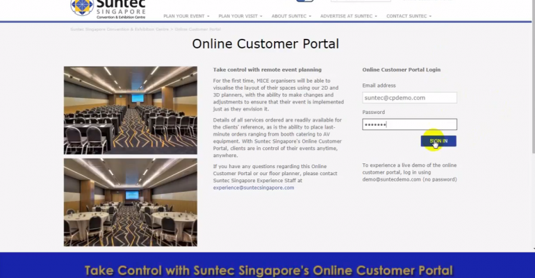 Suntec Singapore Launches Online Planning Portal