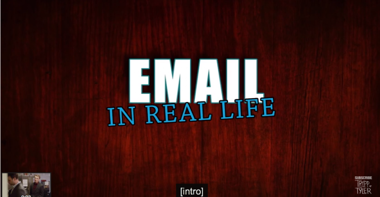 If People Interacted in Real Life Like They Do on E-mail, It Would Look Like This