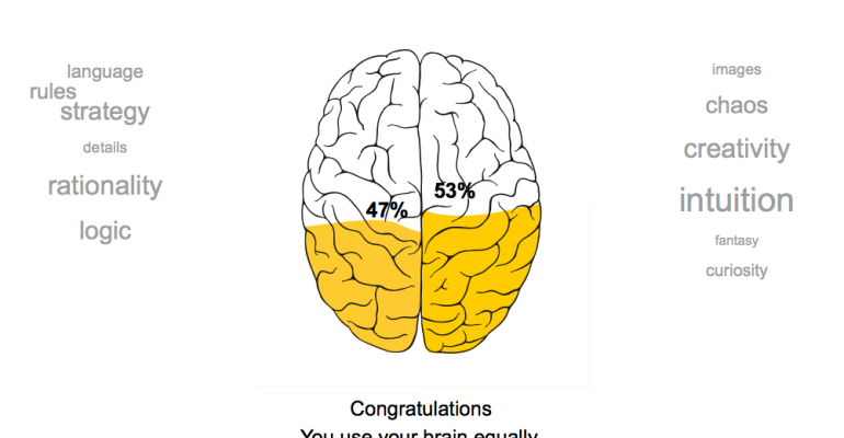 Is Your Brain a Rightie or a Leftie?