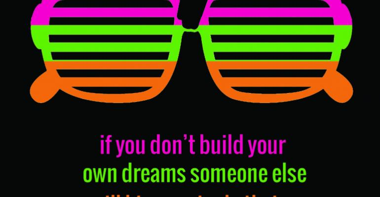 neon glasses with quote
