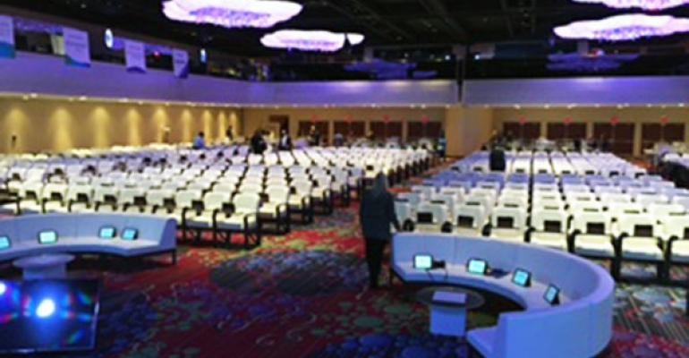 General session room set at Pharma Forum 2016 at the Marriott Marquis NYC