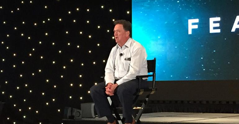 Futurist and innovation expert Jim Carroll speaking at digitalNow