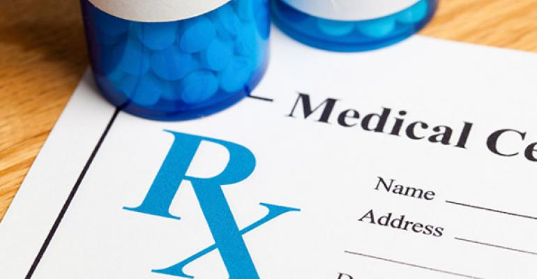 Prescription pad and pill bottles