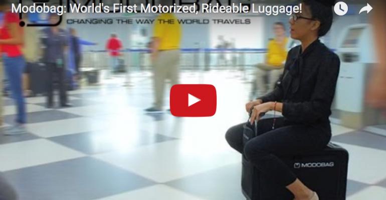Modobag rideable luggage