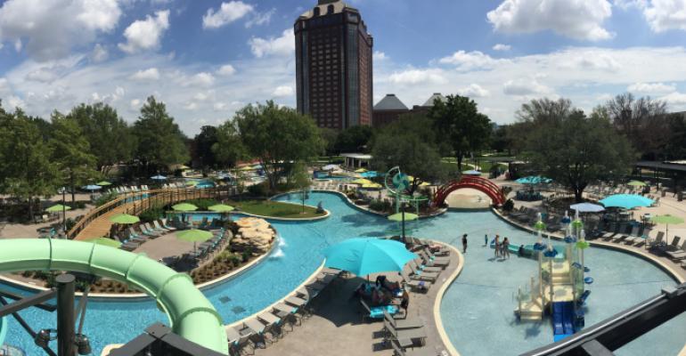 Hilton Anatole39s new pool complex