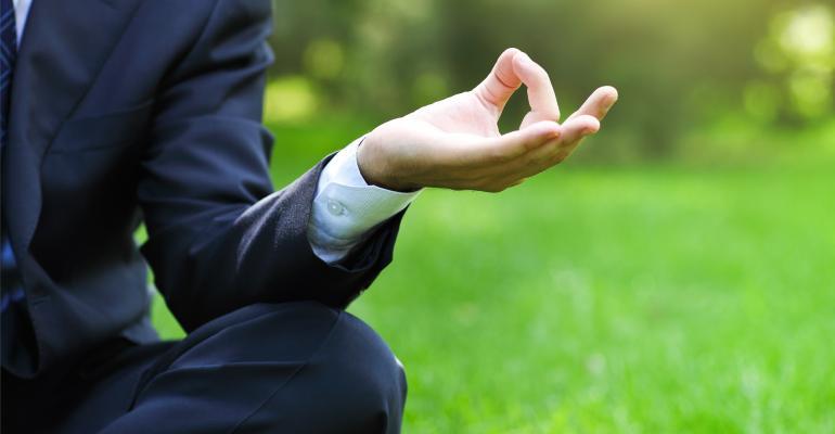 Yoga Businessman